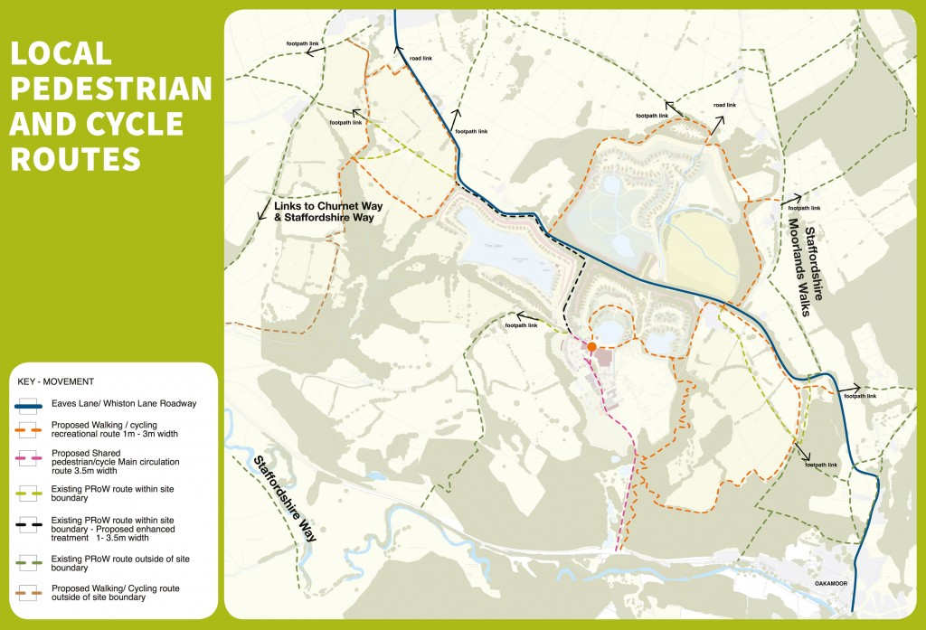 Local pedestrian and cycle routes — click for a larger image.